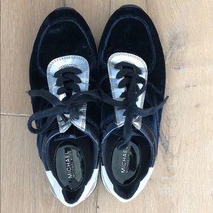 Blue velvet Michael Kors sneakers